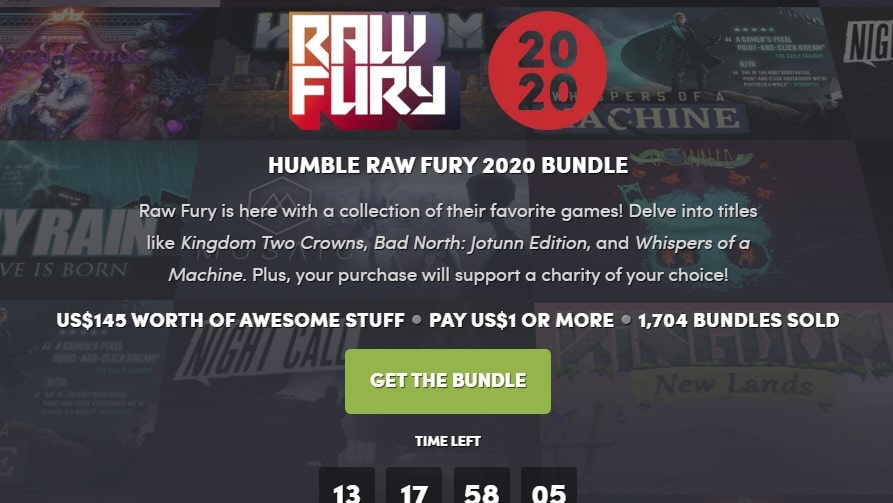 HUMBLE RAW FURY 2020 BUNDLE